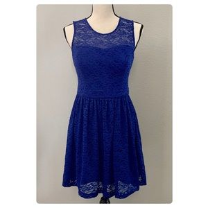 Royal Blue Lace Sweetheart Dress